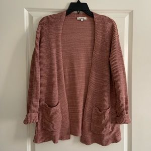 Madewell Mauve Blush Cardigan Sweater Medium